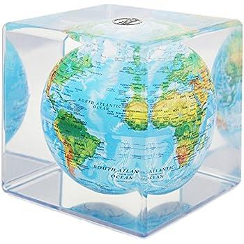 Amazon Com Relief Map Blue Mova Globe Cube Toys Amp Games
