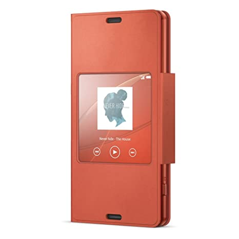 release date 4b02a f390a Sony SCR26 Style Up Cover for Xperia Z3 Compact - Sunset Orange