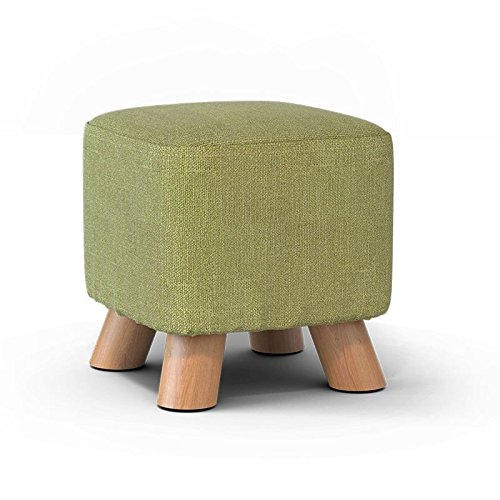 STJK$BMJW Indoor Portable Soft-Shoe Laziness Stools Home Children'S Wooden Bench Bedroom Coffee Table Against (2529Cm) Matcha