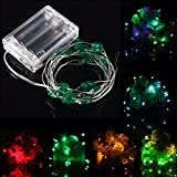 2M 18 LED Battery Operated Xmas Four Leaf Clovers String Fairy Lights Party Wedding Christmas Decor - (Color: Yellow)