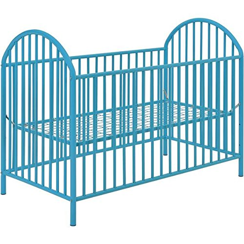 Altra Adjustable Blue Metal Crib by Cosco, Bright blue finish gives it a fun look that will fit perfectly with your nursery design