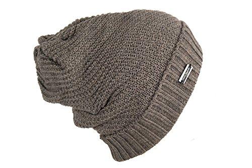 Chapeau homme LAURA BIAGIOTTI bonnet brun taille unique 100% acrylique L1735
