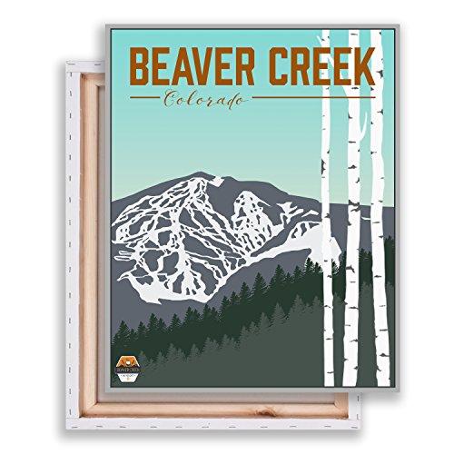 Beaver Creek - Colorado - Ski Resort - Beaver Creek Canvas - Modern Illustration - Mountain Art - Wall - Creek Mountain Ski