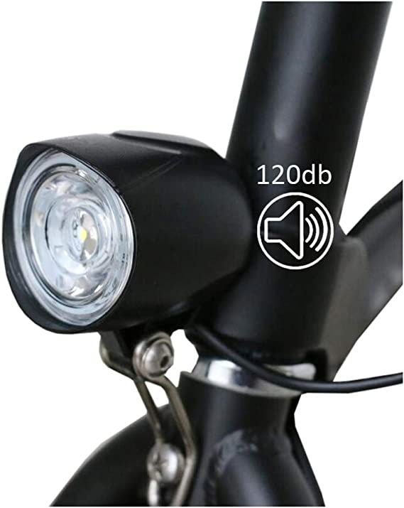 36V 48V EBike Light Scooter Lamp Electric Bicycle 4 LED Front Headlight W// Horn