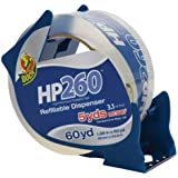 Duck Brand HP260 High Performance 3.1 Mil Packaging Tape with Dispenser, 1.88-Inch x 60-Yard, Crystal Clear, Single Roll (393186)