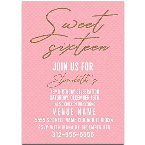 amazon com pink and gold sweet sixteen 16 birthday party