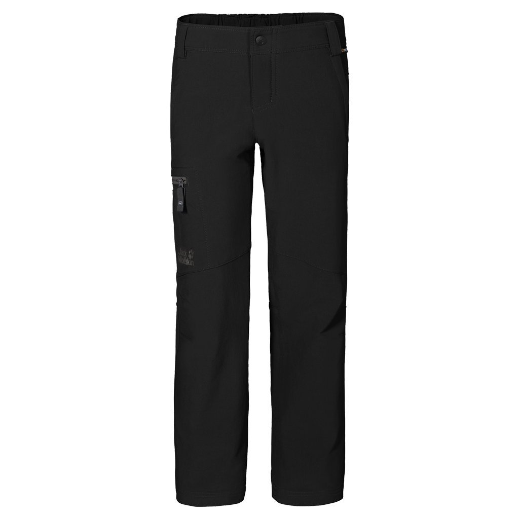 Jack Wolfskin Boys Activate II Softshell Pants, Black, Size 92 (1 1/2-2 years)