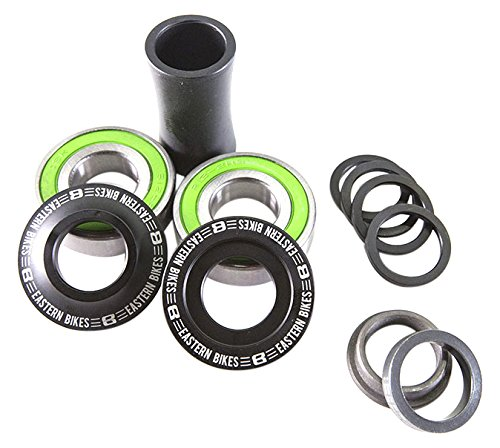 - Eastern Bikes BMX Bottom Mid Bracket Kit, 19mm, Matte Black