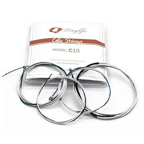 QINGGE Cello Strings 1 Set Generic Aluminum-magnesium alloy Wound cello strings 4/4 3/4 Size (4/4) by QINGGE (Image #5)