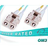 OM3 LC LC Duplex Fiber Patch Cable 10Gb Multimode 50/125 - 5 Meter