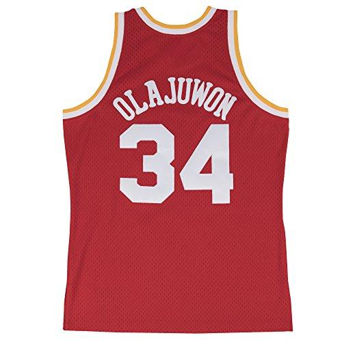 new style f490b dc96b Hakeem Olajuwon Houston Rockets Mitchell & Ness NBA ...