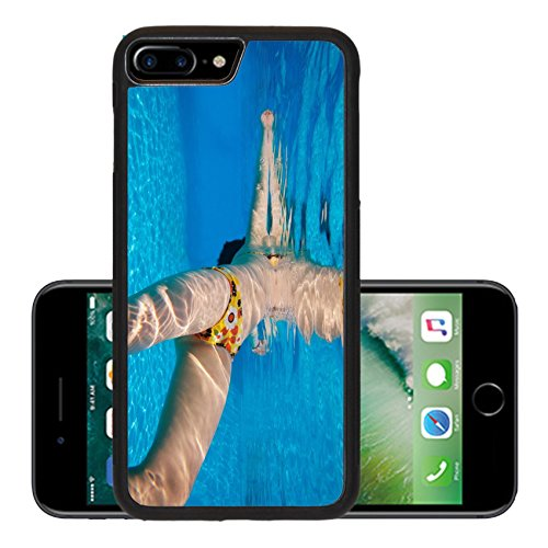 Liili Premium Apple iPhone 7 Plus Aluminum Backplate Bumper Snap Case Female swimmer body with sunlight underwater pattern Photo 13948857
