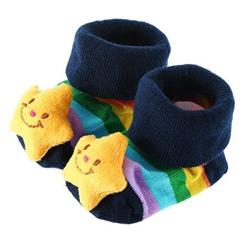 PHILNA12carino ragazzi ragazze 3D Cartoon antiscivolo pantofola Bootie calza calze antiscivolo