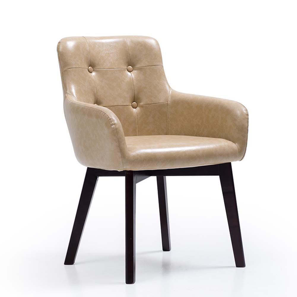 ZEMIN Esszimmerstühle Stühle Schemel Sitz Leiter Tabelle Tragbar Hölzern Rückenlehne Massivholz Gepolstert Multifunktion, 8 Farben Erhältlich, 59,5X58X80CM (Farbe : A-#1)