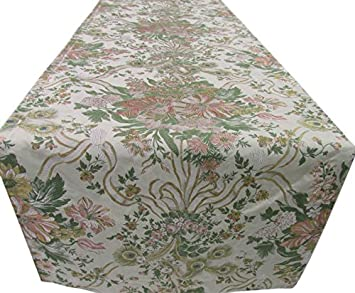 Elegant Corona Decor Extra Wide Italian Woven Table Runner, 95 By 26 Inch,