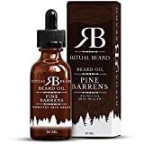 Pine Barrens All Natural Beard Oil – Leave In Softener, Conditioner & Moisturizer – Aids Dryness & Itchiness – Strength, Scent, Shine & Sophistication for the Urban Gentleman – Ritual Beard For Sale