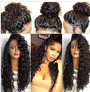 Jessica Hair Full Lace Wigs 150% Density Virgin Human Hair Wigs Water Wavy  Curly Glueless with Baby...