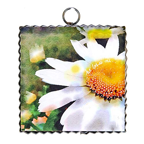 (The Round Top Collection Studio Daisy's Wall Art - Metal & Wood )