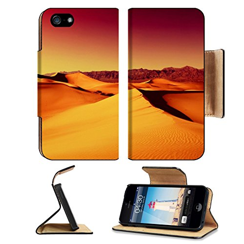 MSD Premium Apple iPhone 5 iPhone 5S Flip Pu Leather Wallet Case iPhone5 IMAGE ID: 7125743 Sand Dunes in Death Valley National Park - Ridge T Mobile Desert