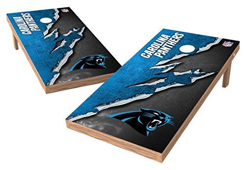 (PROLINE NFL Carolina Panthers 2'x4' Cornhole Board Set - Ripped Design)