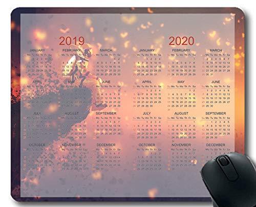 Flying Pig Man 2019-2020 Calendar Pads,Astronaut Gaming Mouse mats (Multi 147)