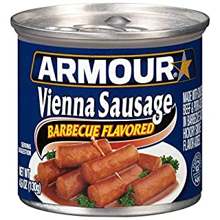 Armour Barbecue Flavored Vienna Sausage, 4.6 Ounce -- 24 per case.