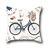 Pink Loves Cotton Bicycle Art Quality Ultra Soft Pillow Case ( 20*30 )