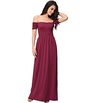 9ffae6f363 Image Unavailable. Image not available for. Color: Hemlock Women's Long Off  Shoulder Dress ...