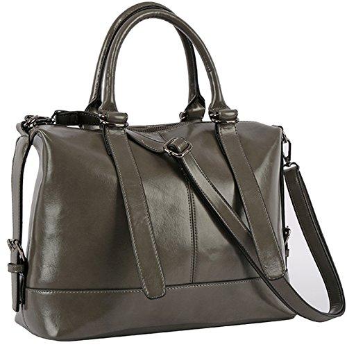 Designer Handbags,Women Satchel Purse Tote Bag,YAAMUU Casual Crossbody Bags with Top-handle[L0010/gray]
