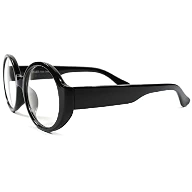 138b2fe68519 Amazon.com  80s Vintage Retro Mens Womens Stylish Fashion Round Lens Glasses   Clothing