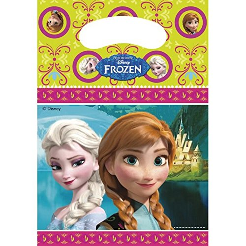 Unique Party Loot Bags - Frozen (One Size) (Green/Pink/Blue) by Universal Textiles