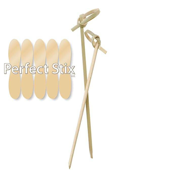 Perfect Stix Bamboo Pick 4 300ct Bamboo Knot Picks, Cocktail and Hors' D'Oeuvre, 4