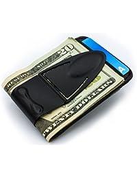 Geneva Black Money Clamp w/RFID protected wallet
