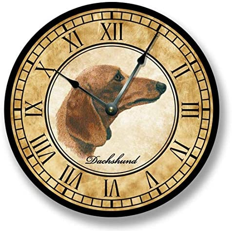 Fancy This Dachshund Dog Wall Clock Antique Decor