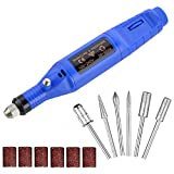 Electric Nail Drill Machine, Kathy 6 in 1 Professional Nail Kit With File, Portable Manicure Pedicure Nail Art File Drill Kit for Acrylic Nails, Gels Nails, Polishing Tools for Home and Salon-Blue