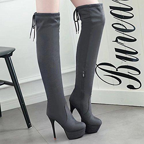 Classic Boot Grey Damen AIYOUMEI AIYOUMEI Damen xqnZOt0x6w