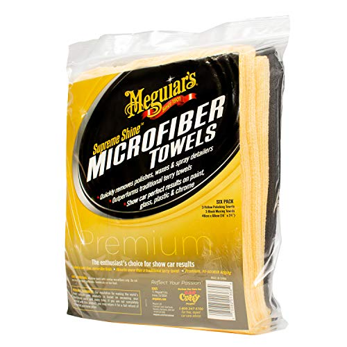 Meguiar's X2025 Supreme Shine Microfiber Towels, 6 pack