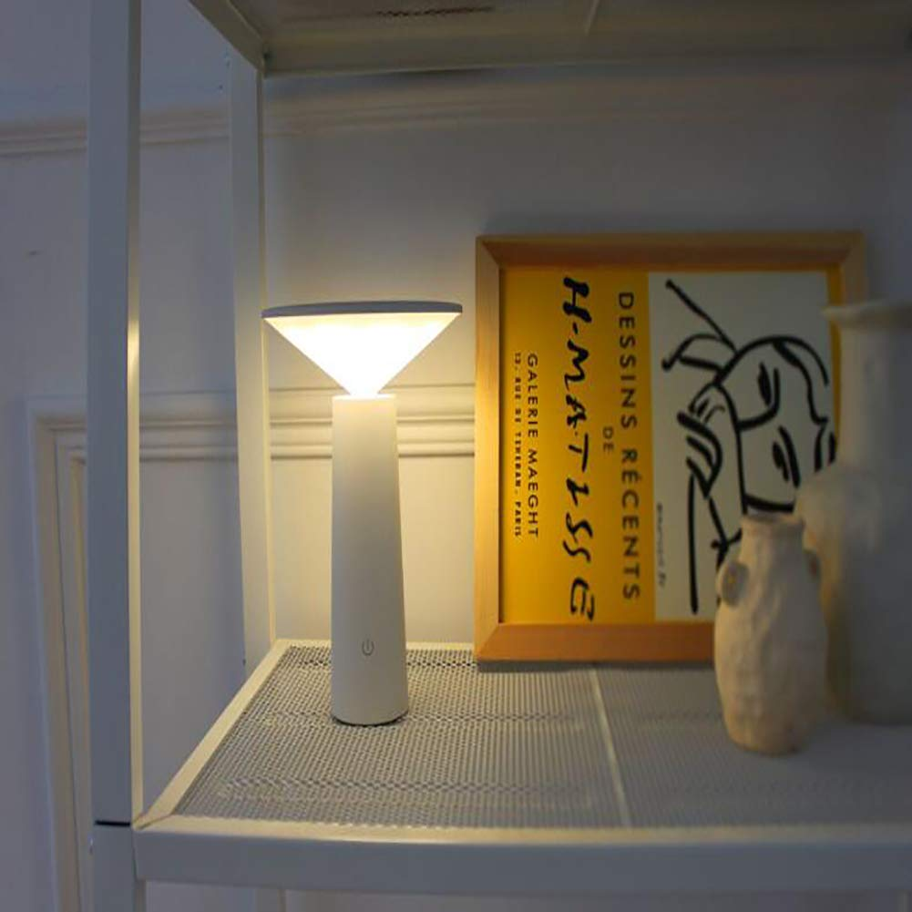 Lampada da Tavolo A Protezione degli Occhi A LED Lampada Sleep Lampada Tattile Notturna Luci Lampada da Comodino Fungo 4W Ricaricabile USB for Casa O Ufficio Classe di Efficienza Energetica A ,White