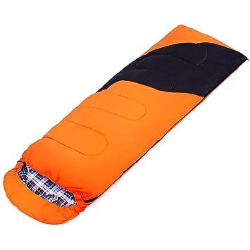 SHUIDAI Equipo de camping al aire libre saco de dormir de algodón para adultos suministros de camping sobres luchar entre sí sacos de dormir , Orange: ...