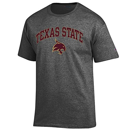 (Elite Fan Texas State Bobcats Men's Short Sleeve Arch Tee, Dark Heather, X Large)