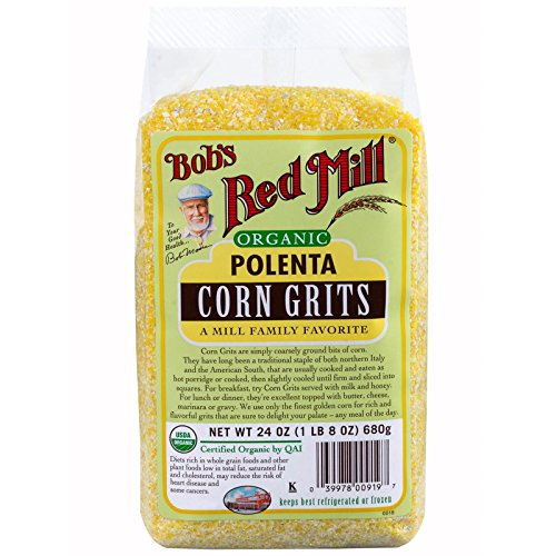 Bob's Red Mill, Organic, Polenta, Corn Grits, 24 oz pack of 2 by Bob's Red Mill