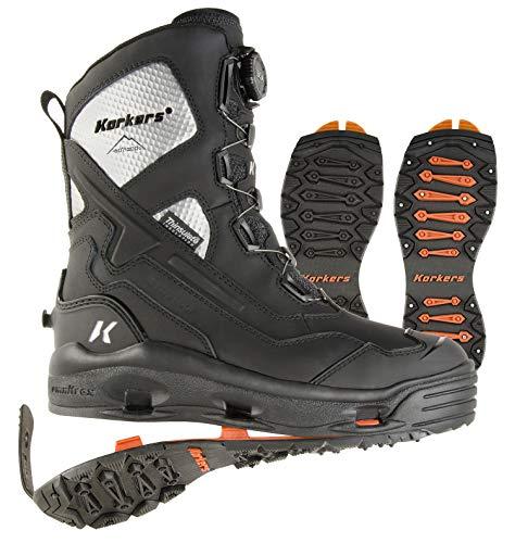 Korkers Men's Polar Vortex 1200g Winter Boots (11) Black
