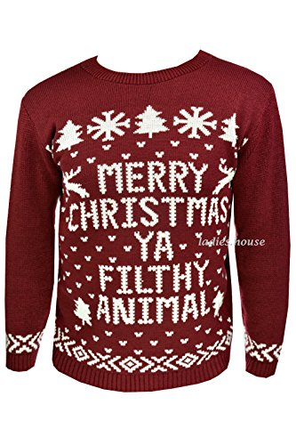 New Mens Womens Xmas Jumpers Novelty Sweater Knitted Retro Pullover