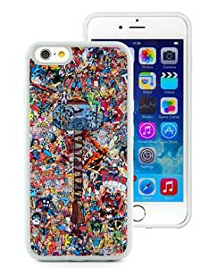 Thor Collage White iPhone 6 (4.7) TPU Case,personalized design together with Excellent protection