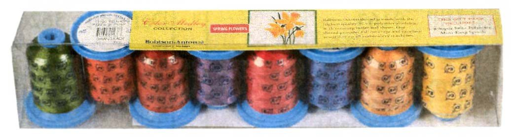 Robison-Anton Spring Flowers Polyester Embroidery Thread (Set of 8) GGP2015
