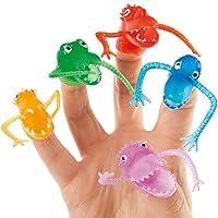 Baker Ross Marionetas de Monstruos para Dedos Pequeños Juguetes Relleno de Piñata Divertidos Premios y Regalos de Fiestas Infantiles (Pack de 10)