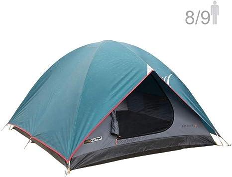 NTK Tienda de Campaña Resistente 100% Impermeable para 8 a 9 Personas Acampada al Aire Libre y Senderismo Tamaño Familiar 366 x 304 x 182 cm - Cherokee GT 8/9: Amazon.es: Deportes y aire libre
