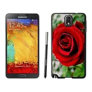 Fashionable Custom Designed Samsung Galaxy Note 3 N900A N900V N900P N900T Phone Case With Red Rose Close Up_Black Phone Case