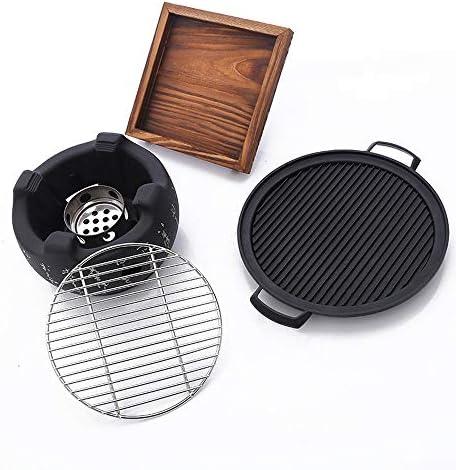 HR Barbecue de Table Japonais pour 2 à 4 Personnes en Alliage d'aluminium Accessoire de fête Trompete