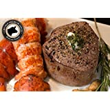 Surf & Turf - 2 (6oz) Filet Mignons and 2 (6oz) Cold Water Lobster Tails Steak Delivered